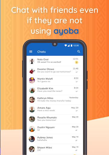 Ayoba! Free instant messaging 0.36.1 Screenshots 1