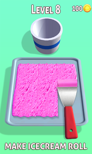 Ice Cream Rolls 3D Game Stir-Fried Frozen Desserts 1.2 screenshots 2