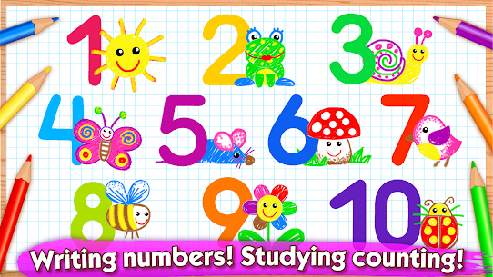 123 Draw🎨 Toddler counting for kids Drawing games 1