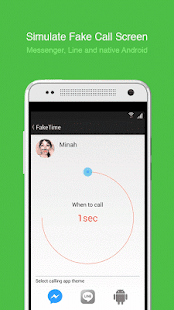 Fake video call - FakeTime 2.8 Screenshot