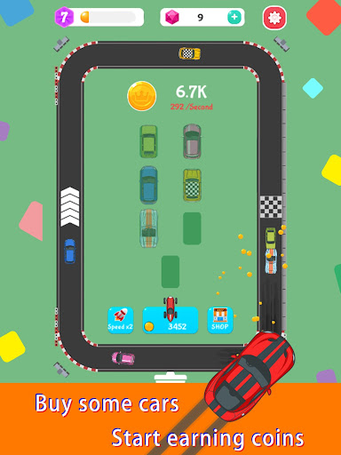 Merge Rally Car - idle racing game  screenshots 12