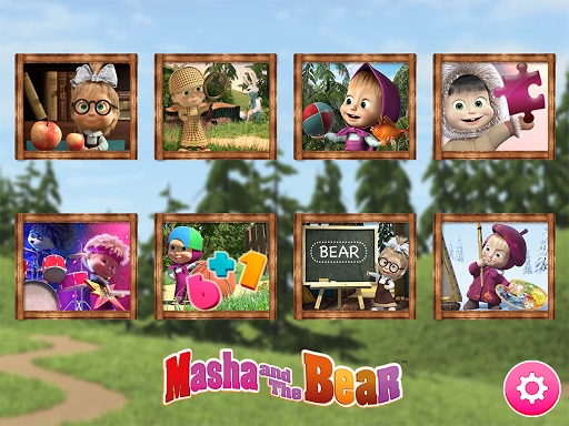 Masha and the Bear. Educational Games 6.2 screenshots 1