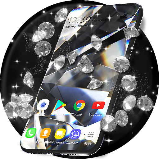 Diamond Live Wallpaper & Animated Keyboard