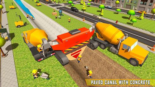 mega city canal construction & road builder screenshot 2