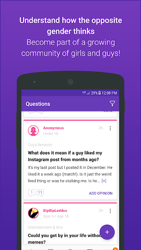 GirlsAskGuys - Your Questions, Their Opinions 3.6.2 screenshots 1