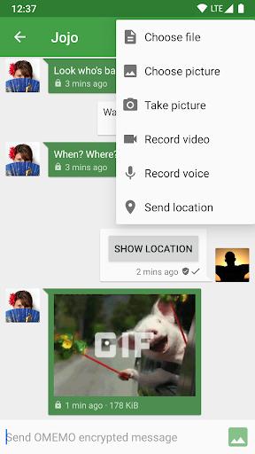 Conversations (Jabber / XMPP) screen 1