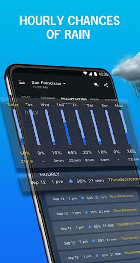 1Weather: Weather Forecast, Widget, Alerts & Radar  screenshots 1