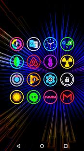 Neon Glow Rings - Icon Pack Screenshot