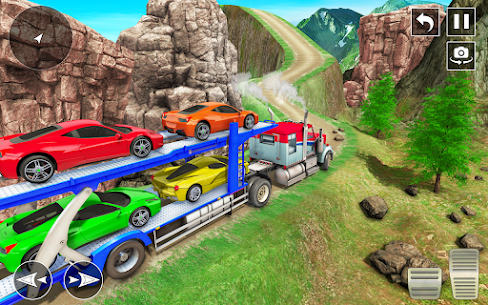 Crazy Car Transport Truck: Offroad Driving Game 6