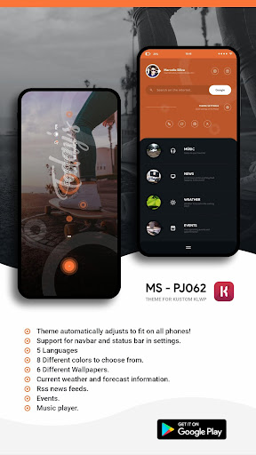 MS - PJ062 Theme for KLWP  screenshots 1