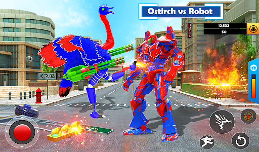 Flying Ostrich Robot Transform Bike Robot Games 38 screenshots 12