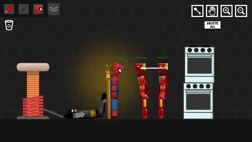 Spider Ragdoll Playground: Iron Human apkpoly screenshots 6