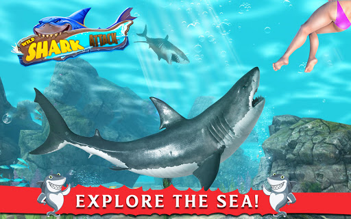 Hungry Shark Attack Game 3D 2.2 screenshots 1