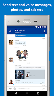 PlayStation Messages - Check your online friends Screenshot