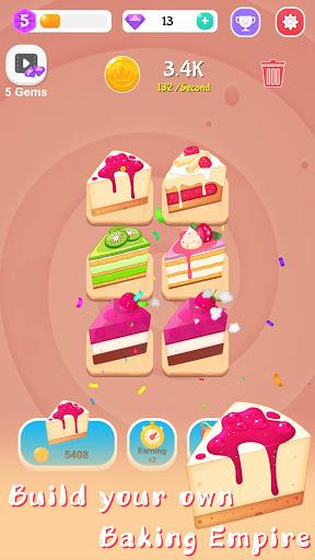 Merge Cake Mania - idle baking tycoon  screenshots 6