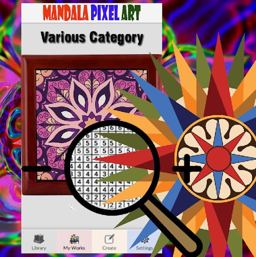 Mandala Pixel Art Coloring By Number  screenshots 7