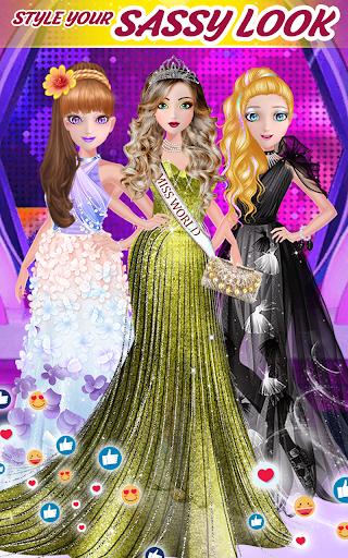 Super fashion model- Makeup & Dress up game  screenshots 3