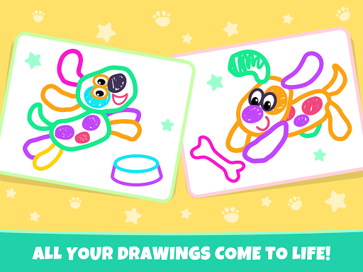 Pets Drawing for Kids and Toddlers games Preschool apkpoly screenshots 20