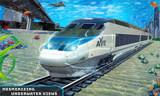 Underwater Bullet Train Simulator : Train Games modiapk screenshots 1