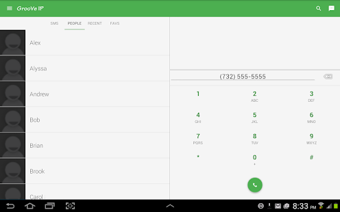 GrooVe IP VoIP Calls & Text Screenshot