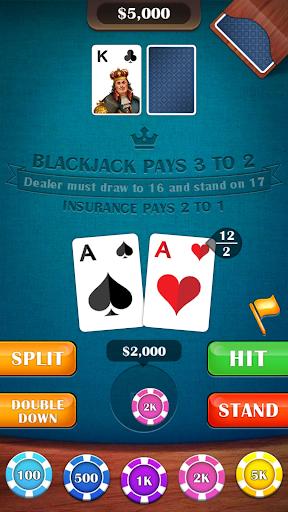 Blackjack 21 - casino card game apklade screenshots 2