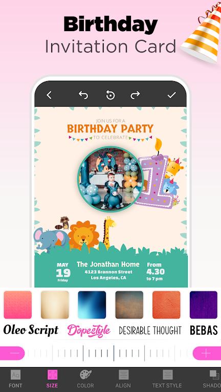 Invitation Maker - Birthday & Wedding Card Design poster 2