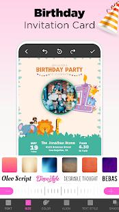 Invitation Maker Free - Birthday & Wedding Card 9.0 Screenshots 3