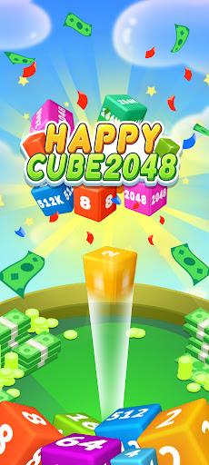 Happy Cube 2048 - merge 3D cube  screenshots 1