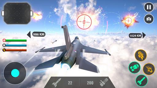 Télécharger Gratuit jeux d'avions de combat de haut niveau 2020 APK MOD (Astuce) screenshots 2