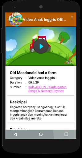 Video Anak Inggris Offline 1.3 Screenshots 3