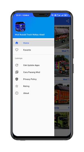 Mod Bussid Truck Wahyu Abadi : 2021 13.0 Screenshots 16