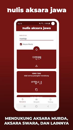 Aksara Jawa - Nulis Aksara Jawa | Ketik & Konversi 4.0.9 Screenshots 2