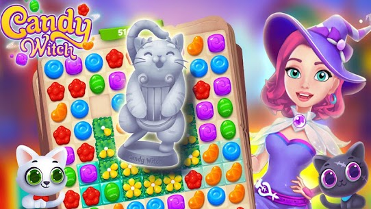 Candy Witch – Match 3 Puzzle Free Games 16.8.5039 Mod Apk (Unlimited Money/Gems) 5