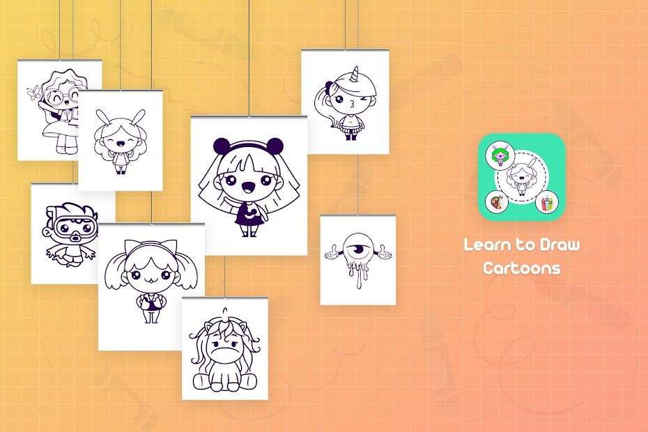 Imágen 2 de Learn to Draw Cartoons - Step by Step para android