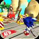 Blue Hedgehog Dash : Jungle Rush Adventure