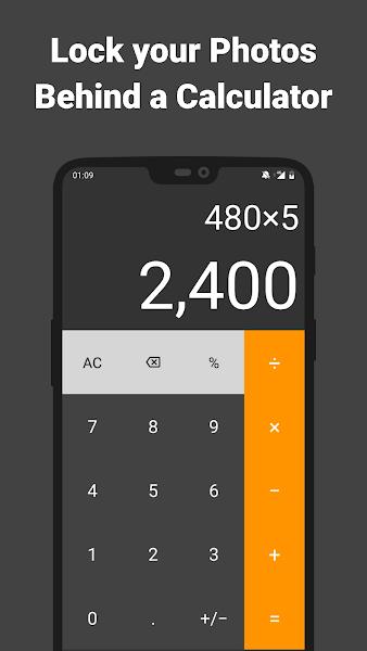 Secret Calculator Photo Vault: Hide Keep Safe Lock