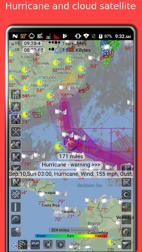 NOAA doppler radar with weather alerts - eMap HDF 2.1.6 Screenshots 3