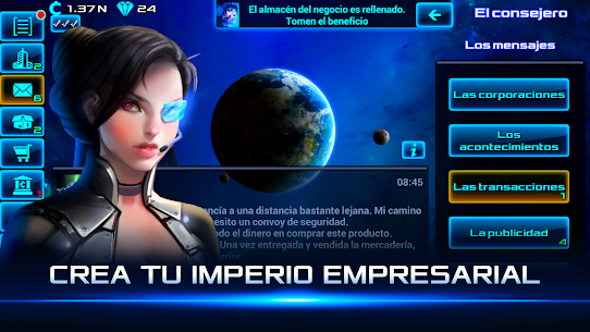 Idle Space Business Tycoon APK MOD (Diamantes Infinitos) 1