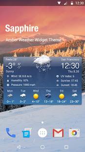 Free Weather Forecast & Clock Widget 16.6.0.6365_50185 Screenshots 1