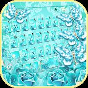Blue Rose Butterfly Keyboard Theme