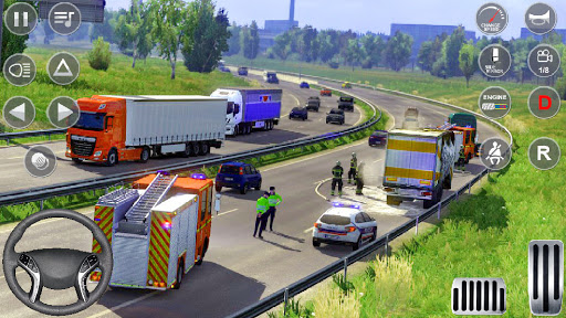 Euro Truck Driving Simulator 3D - Free Game apkpoly screenshots 6