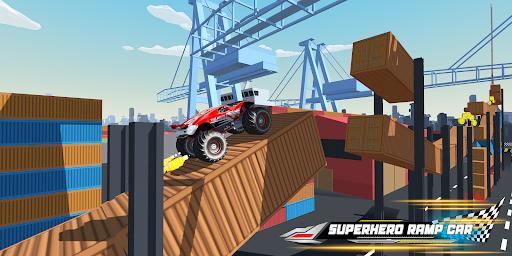 Superhero Mega Ramp Car Stunt - Monster Truck Race  screenshots 13