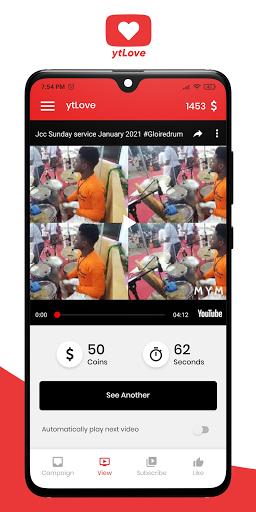 ytLove - Sub4Sub - Get subscribers, views, likes apktram screenshots 2