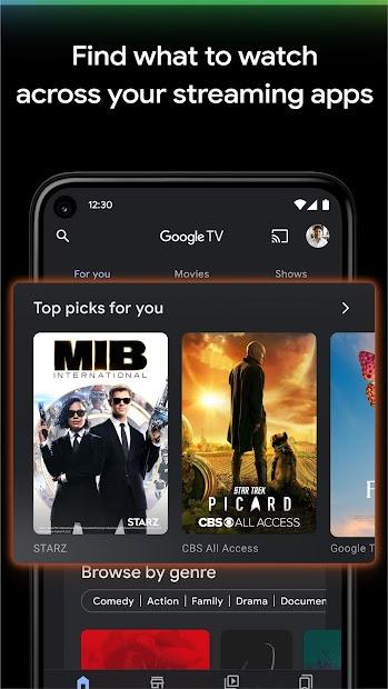 Google TV (previously Play Movies & TV) screenshot 1