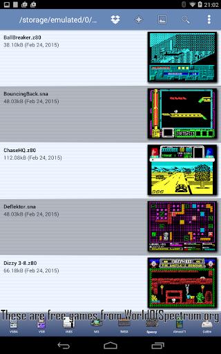 Speccy - Free Sinclair ZX Spectrum Emulator  screenshots 2