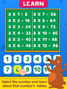 Free Multiplication Table Learning – Kids Math Learning 5