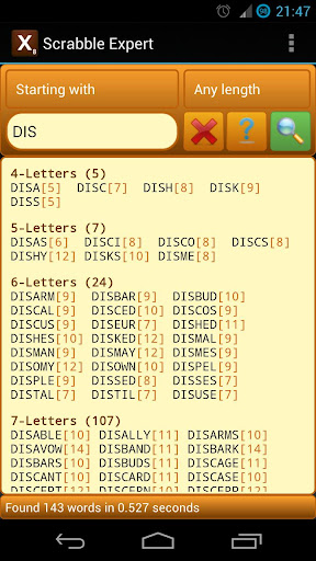 Word Expert (for SCRABBLE) 4.5.1 screenshots 3