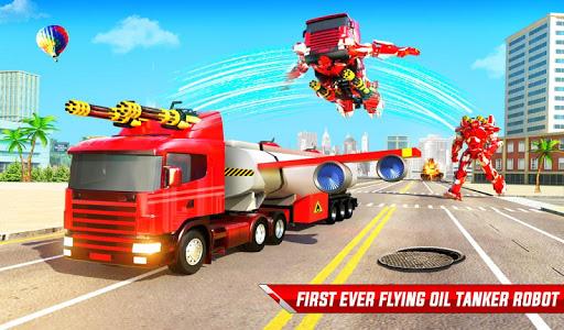 Flying Oil Tanker Robot Truck Transform Robot Game 33 Screenshots 9