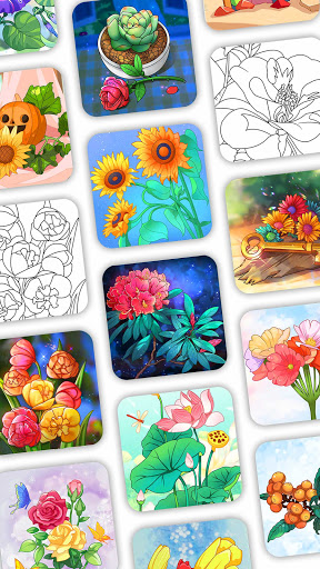 Coloring Book: Color by Number Oil Painting Games apkpoly screenshots 3