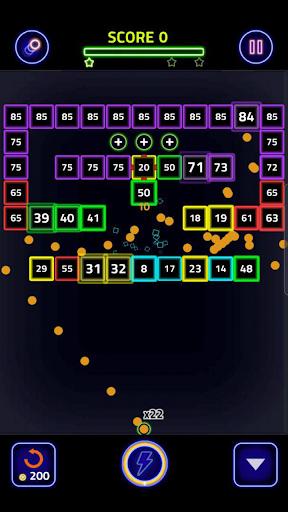 Brick Breaker Glow 1.0.0.25 screenshots 4